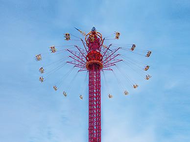 66米高空飛翔